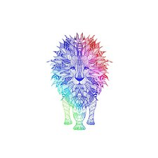 Rainbow Lion Placemat