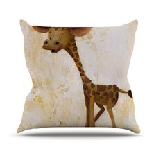 Georgey The Giraffe Throw Pillow
