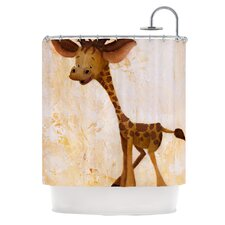Georgey The Giraffe Polyester Shower Curtain
