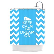 Keep Calm Polyester Shower Curtain