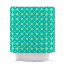 Hive Blooms Polyester Shower Curtain