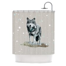 Wolf Polyester Shower Curtain