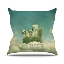 <strong>KESS InHouse</strong> Never Stop Exploring Throw Pillow