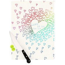 Rainbow Hearts Cutting Board
