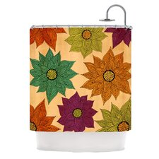 Color Me Floral Polyester Shower Curtain