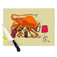 Playful Octopus Cutting Board