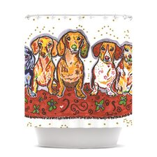 Maksim Murray Enzo Ruby & Willy Polyester Shower Curtain