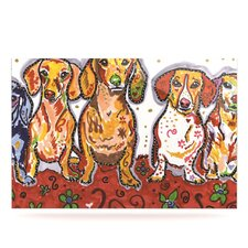 Maksim Murray Enzo Ruby and Willy by Rebecca Fischer Graphic Art Plaque