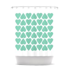 Up and Down Hearts Polyester Shower Curtain