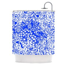 Bloom Blue for You Polyester Shower Curtain