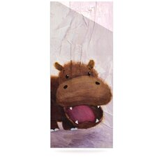 The Happy Hippo by Rachel Kokko Graphic Art Plaque