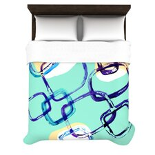 Sixties Stripe by Theresa Giolzetti Woven Duvet Cover