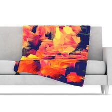 Geo Flower Microfiber Fleece Throw Blanket