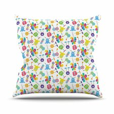 Fun Creatures Throw Pillow