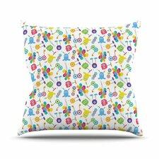 Fun Creatures by Laura Escalante Throw Pillow