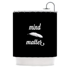 Mind Over Matter Polyester Shower Curtain