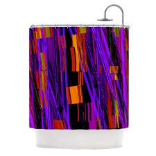 Threads Polyester Shower Curtain