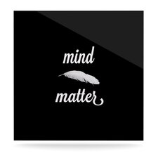 Mind Over Matter by S. Seema Z Textual Art Plaque