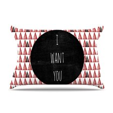 I Want You Fleece Pillow Case