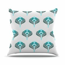 <strong>KESS InHouse</strong> Peacock Throw Pillow