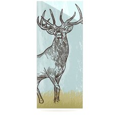 Elk Scene by Sam Posnick Graphic Art Plaque