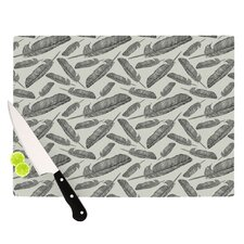 Feather Scene Cutting Board