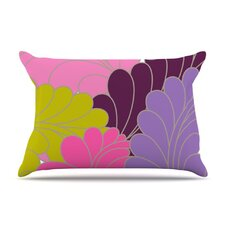 Moroccan Leaves Fleece Pillow Case