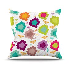 Bee Highway Throw Pillow