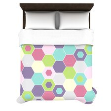 Pale Bee Hex Duvet Cover Collection