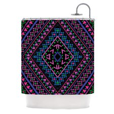 Neon Pattern Polyester Shower Curtain