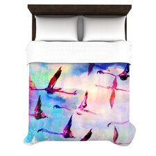 Flamingo in Flight Duvet Cover Collection