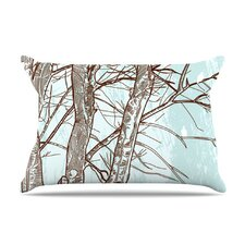 Winter Trees Fleece Pillow Case