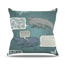 Whale Talk by Sophy Tuttle Throw Pillow