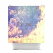 Exhale Polyester Shower Curtain