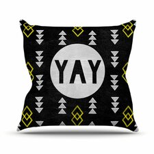 <strong>KESS InHouse</strong> Yay Throw Pillow