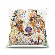 Lily by Rebecca Fischer Poodle Throw Pillow