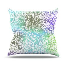 Blue Bloom Softly for You Throw Pillow