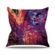 Passion Flowers II by Mary Bateman Throw Pillow