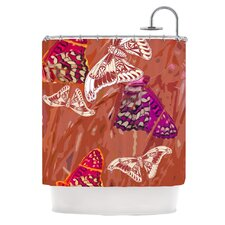 Butterflies Party Polyester Shower Curtain