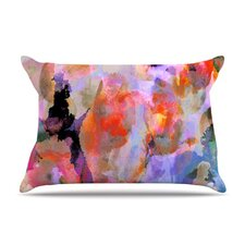 Painterly Blush Fleece Pillow Case