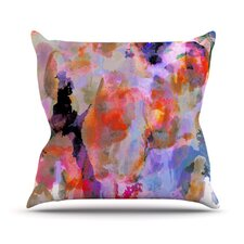 Painterly Blush Throw Pillow