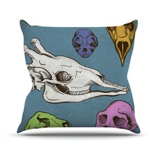 Skulls by Sophy Tuttle Throw Pillow