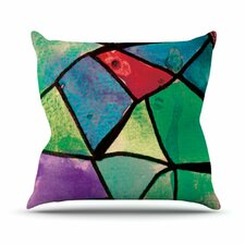 Stain Glass 1 by Theresa Giolzetti Throw Pillow