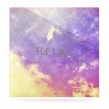 Relax by Rachel Burbee Photographic Print Plaque