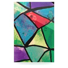 Stain Glass 1 by Theresa Giolzetti Graphic Art Plaque