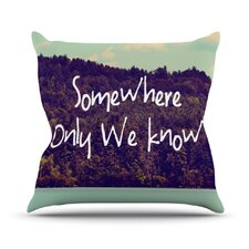 Somewhere Throw Pillow