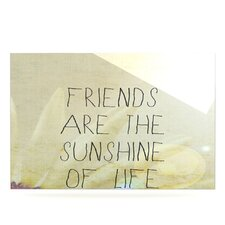 Friends Sunshine Floating Art Panel