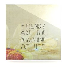 Friends Sunshine by Rachel Burbee Graphic Art Plaque