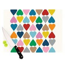 Diamond Hearts Cutting Board