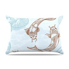 Koi Fleece Pillow Case